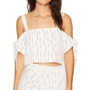 bishop + young Tops - NWT Bishop + Young Tie Sleeve Crop Top